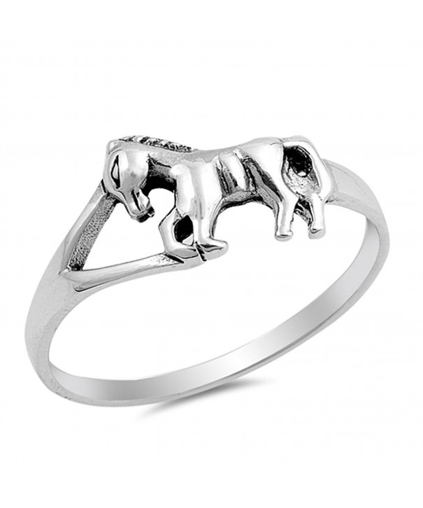 Horse Pony Sterling Silver RNG16062 6