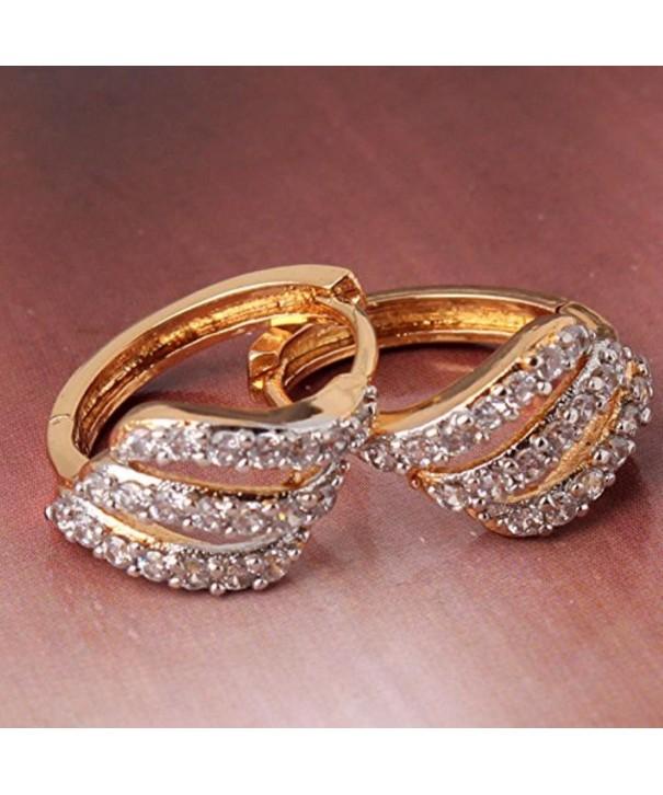 CS DB Gold Platinum Earrings Swarovski