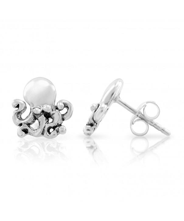 Sterling Silver Little Octopus Earrings