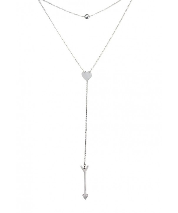 Dainty Heart Lariat Necklace Necklaces