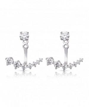 Sterling Silver Rhodium Plated Earrings