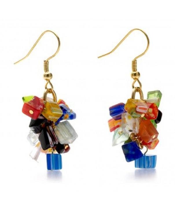 Murano Millefiori Earrings Mystique Pricegems