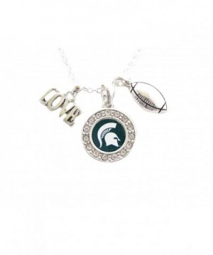 Michigan Spartans Football Necklace Jewelry
