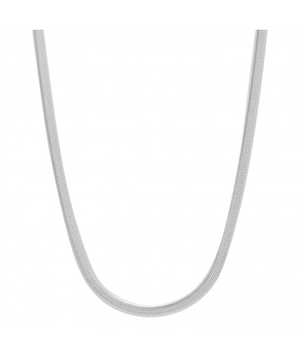 Sterling Nickel Free Herringbone Necklace Polishing