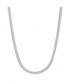 Sterling Nickel Free Herringbone Necklace Polishing
