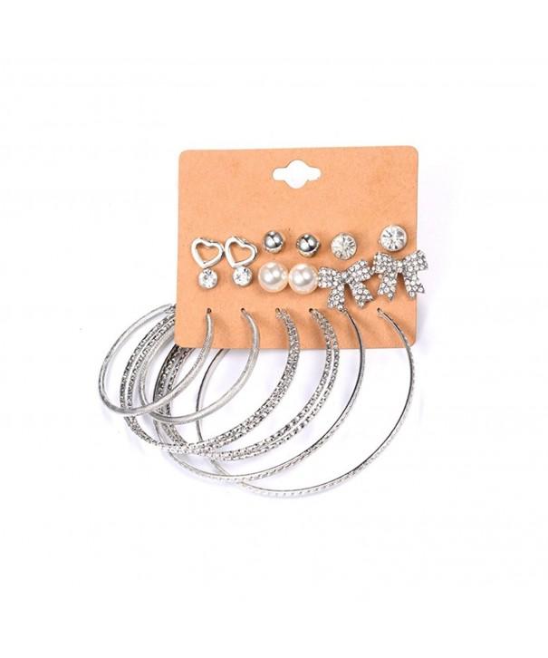 Cyntan Earring Shape Rhinestone Earrings