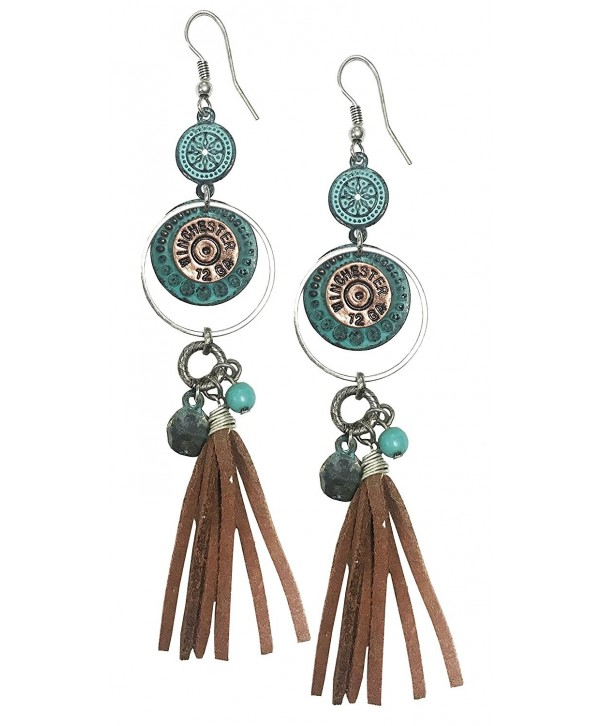 Western cowgirl earrings winchester turquoise