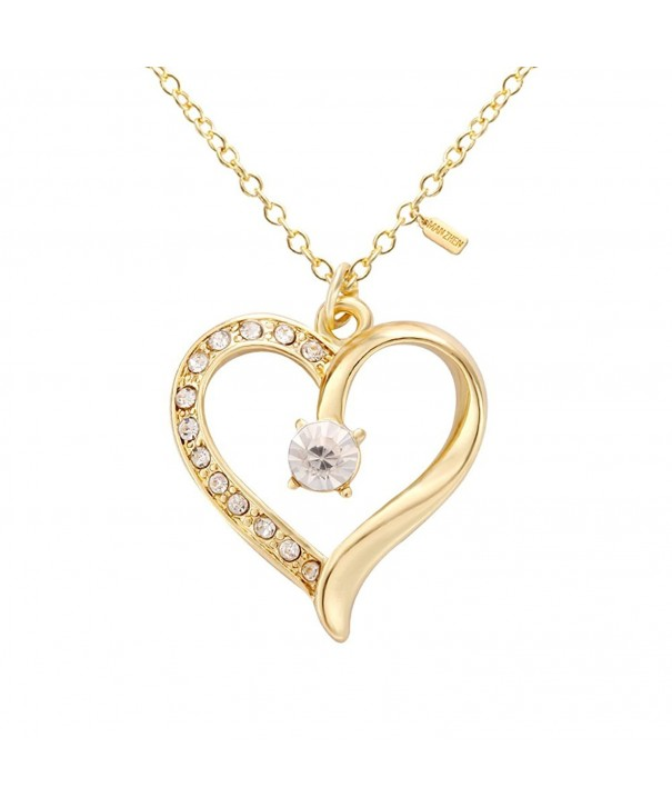 MANZHEN Zirconia Diamond Pendant Necklace