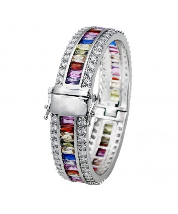 Morganite Garnet Amethyst Aquamarine Bracelet
