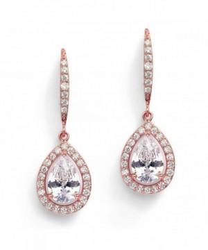 Mariell Pear Shaped Wedding Teardrop Earrings