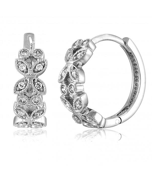 BERRICLE Rhodium Sterling Zirconia Earrings