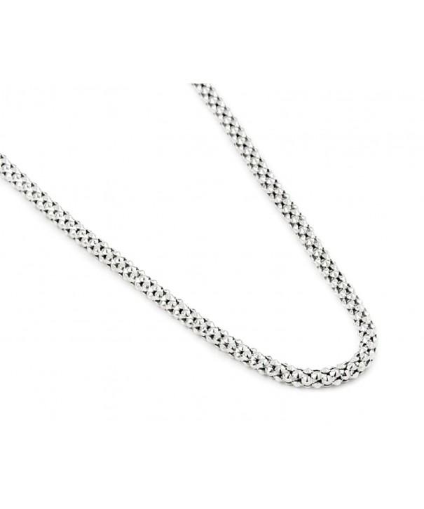 Rhodium Plated Sterling Silver Coreana