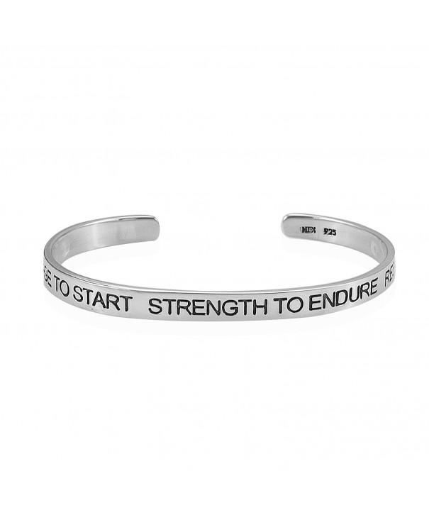 Sterling Silver Courage Start Bracelet