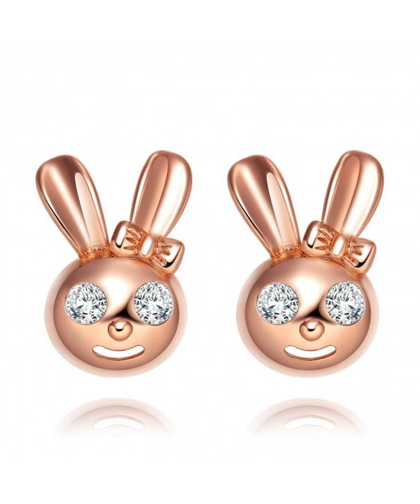 Playboy Gold Tone Sparkling Crystals Earrings