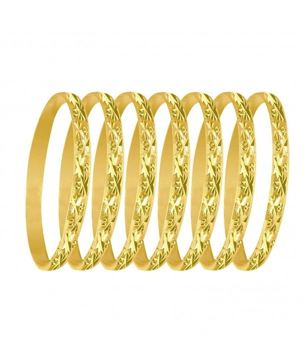 Bangles Asterisk Indian Yellow Plated