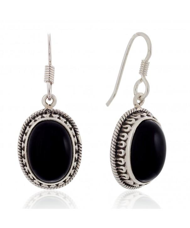 Sterling Silver Gemstone Vintage Earrings