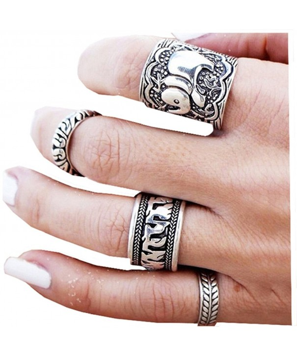 Sunscsc Vintage Silver Elephant Knuckle