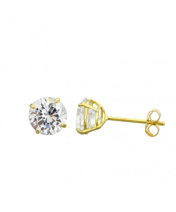 Yellow Zirconia Double Basket Earrings