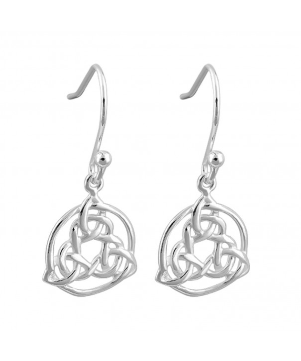 Sterling Trinity Distinct Fish hook Earrings