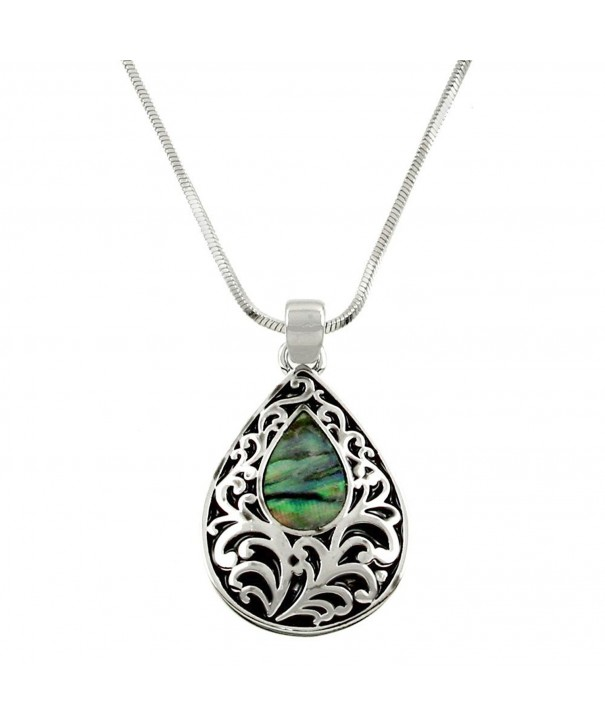 DianaL Boutique Filigree Pendant Necklace