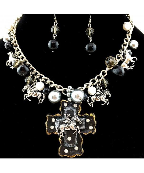 Western Peak Bubble Necklace Earrings