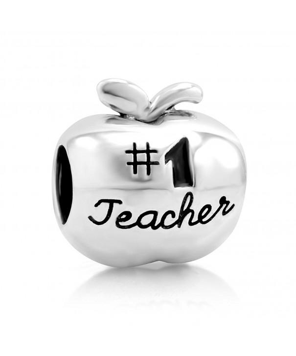 Sterling Silver Teacher Apple Bracelet