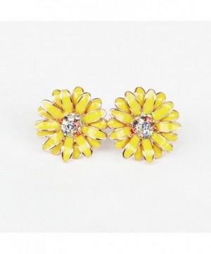 Beautiful Elegant Daisy Earrings Crystal