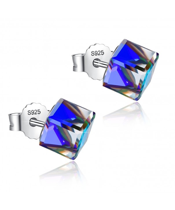 Sterling Hypoallergenic Earrings Swarovski Crystals