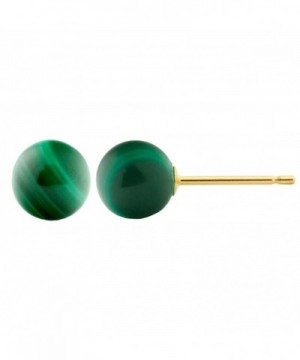 Trustmark Yellow Natural Malachite Earrings