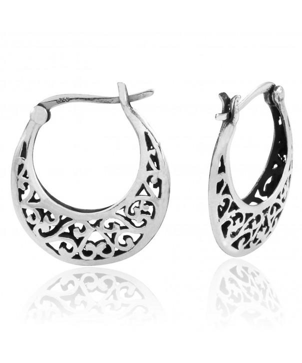 Sterling Silver Inspired Filigree Earrings
