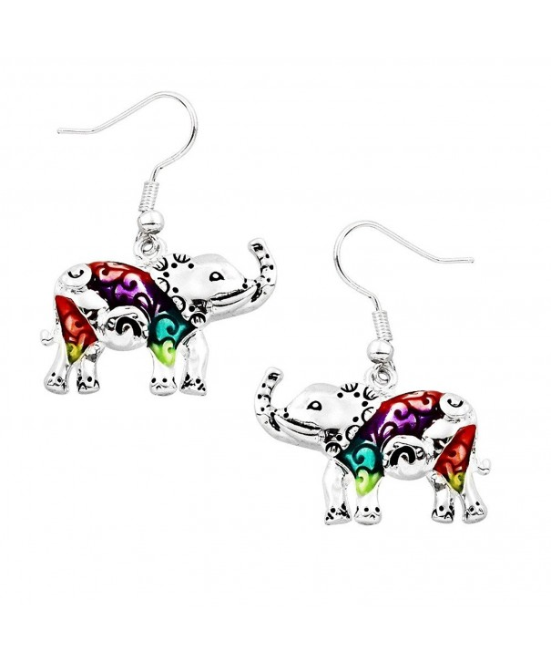 Liavys Multi Color Elephant Fashionable Earrings