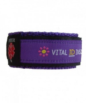 Youth Small Adjustable Medical Bracelet Purple