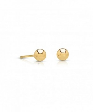 Earrings Comfortable Friction Diameter yellow gold