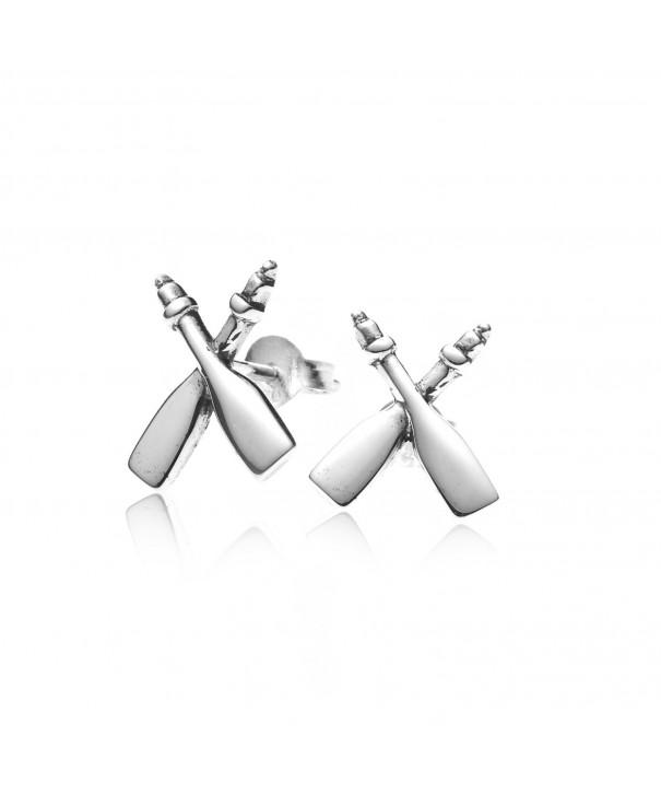 Sterling Silver Rafting Paddles Earrings