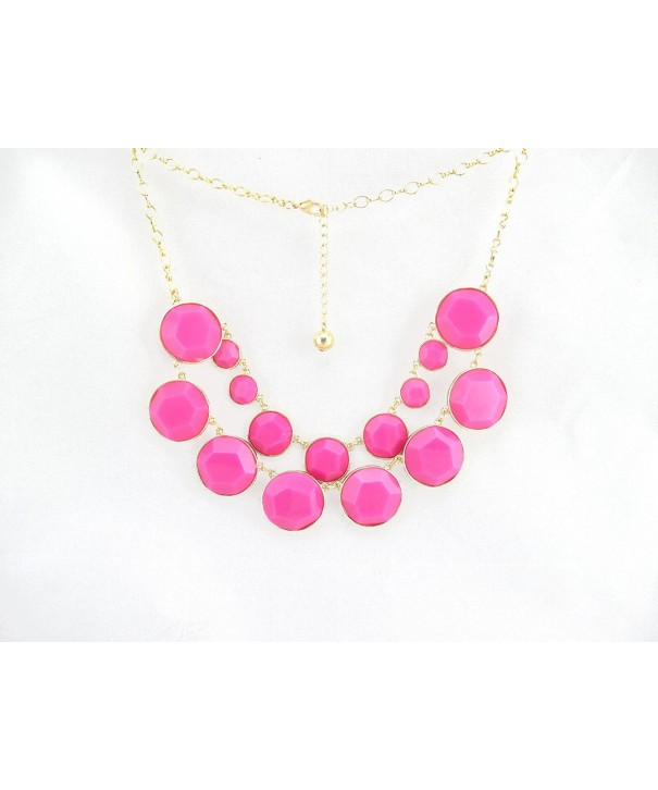 Rounds Double Statement Fashion Necklace