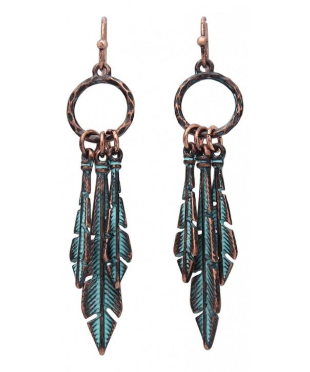 Rain Jewelry Triple Feather Earrings