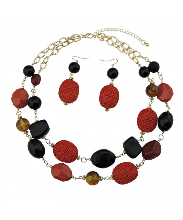 Statement Chunky Fashion Necklace Earring
