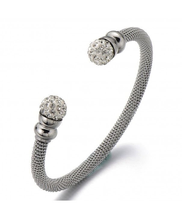 Elastic Adjustable Stainless Bracelet Zirconia