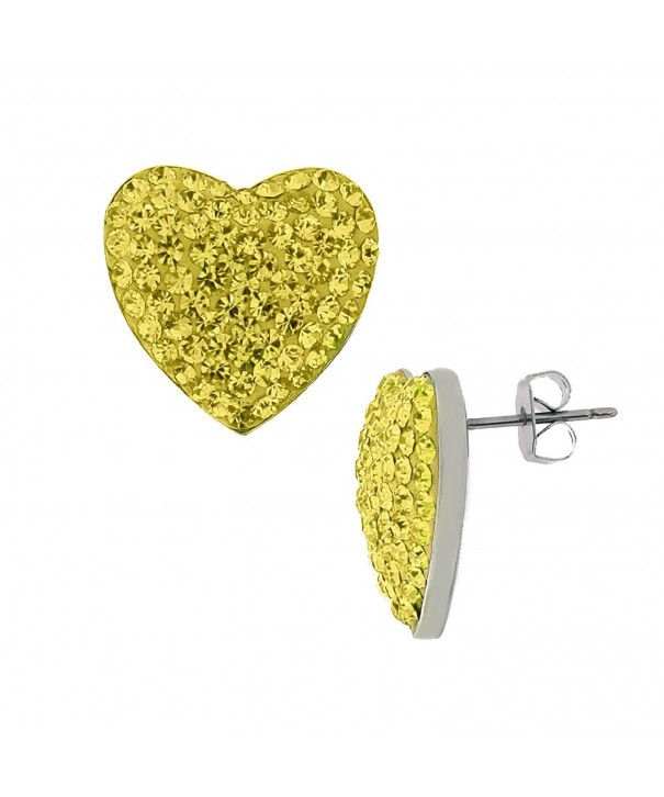 Yellow Canary Crystal Earrings Zirconia