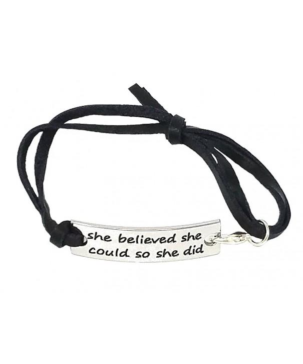 Ha Believed Inspirational Leather Bracelet