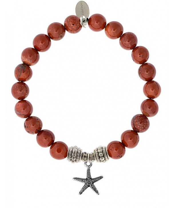 EvaDane Natural Gemstone Starfish Bracelet