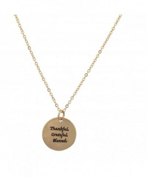 Lux Accessories Thankful Grateful Goldtone
