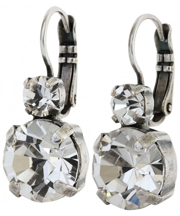 Mariana Silvertone Crystal Earrings 1037