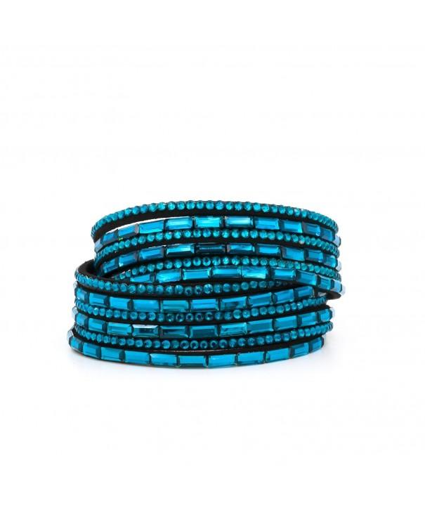 Yoshine Rhinestone Multilayer Bracelets Adjustable