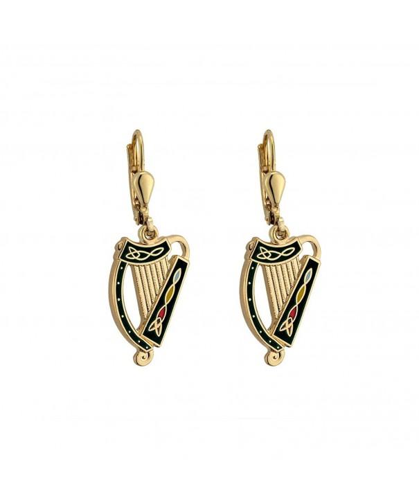 Irish Earrings Plated Black Ireland