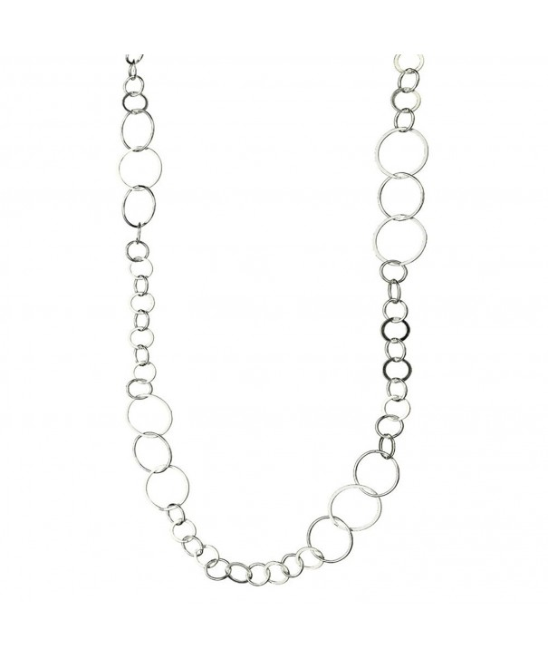 Sterling Silver Round Circle Necklace