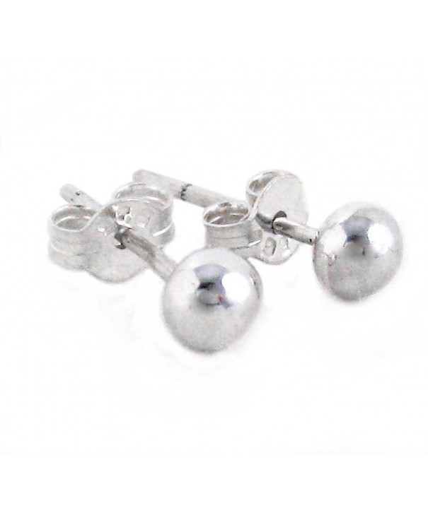 Sterling Silver Round Ball Earrings