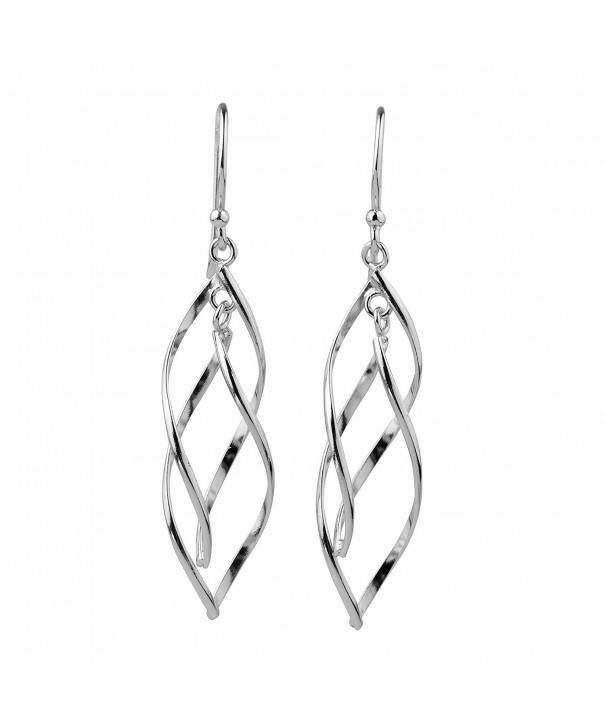 Sterling Silver Double Elongated Earrings