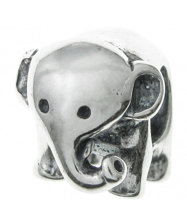 Sterling Silver Elephant European Bracelets