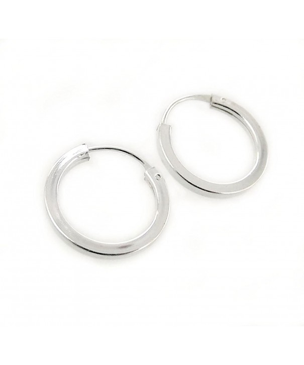 Sterling Silver Square Shaped Tube Earrings